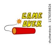 game over concept image | Shutterstock .eps vector #1178358826