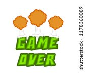 game over concept image | Shutterstock .eps vector #1178360089