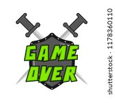 game over concept image | Shutterstock .eps vector #1178360110