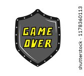 game over concept image | Shutterstock .eps vector #1178360113