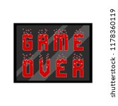 game over concept image | Shutterstock .eps vector #1178360119