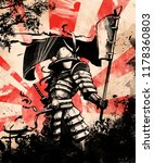 Japanese Samurai Soldier With...