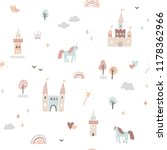 cute fairytale pattern with... | Shutterstock .eps vector #1178362966