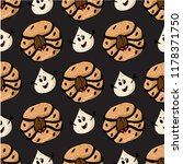 halloween seamless pattern with ... | Shutterstock .eps vector #1178371750