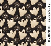 halloween seamless pattern with ... | Shutterstock .eps vector #1178371756