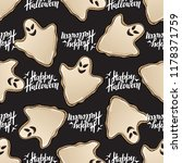 halloween seamless pattern with ... | Shutterstock .eps vector #1178371759