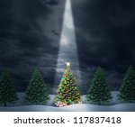 Illuminated Christmas Tree Wit...