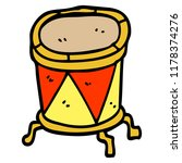 cartoon doodle drum on stand | Shutterstock . vector #1178374276