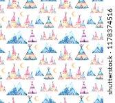 watercolor seamless pattern in... | Shutterstock . vector #1178374516