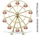 vector ferris wheel isolated on ... | Shutterstock .eps vector #1178379166