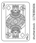 a playing card jack of diamonds ... | Shutterstock .eps vector #1178380606