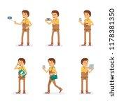 vector young adult man in...   Shutterstock .eps vector #1178381350