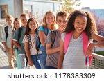 elementary school kids with... | Shutterstock . vector #1178383309