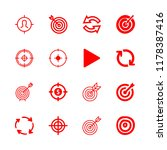 16 accurate icons with dart... | Shutterstock .eps vector #1178387416