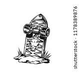 skate board vector... | Shutterstock .eps vector #1178389876