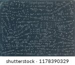 math formulae hand drawn on... | Shutterstock . vector #1178390329