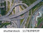 aerial view of highway and...   Shutterstock . vector #1178398939