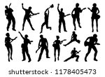 a set of guitarist musicians in ... | Shutterstock .eps vector #1178405473