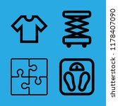 4 fit icons with t shirt... | Shutterstock .eps vector #1178407090
