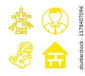 4 sketch icons with house plan... | Shutterstock .eps vector #1178407096