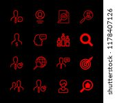 16 seo icons with rank and... | Shutterstock .eps vector #1178407126