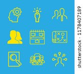 project icons set with users ... | Shutterstock .eps vector #1178407189