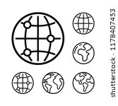 world icon templates | Shutterstock .eps vector #1178407453