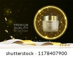 beauty product  gold cosmetic...   Shutterstock .eps vector #1178407900