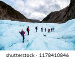 hikers and travelers walking on ... | Shutterstock . vector #1178410846