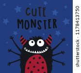 cute monster vector... | Shutterstock .eps vector #1178413750