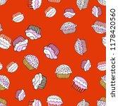 sweets background design.... | Shutterstock .eps vector #1178420560