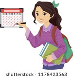 illustration of a teenage girl... | Shutterstock .eps vector #1178423563