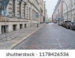 paved empty cobblestone street...   Shutterstock . vector #1178426536