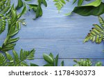 frame made of tropical leaves... | Shutterstock . vector #1178430373