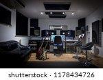 recording studio control room... | Shutterstock . vector #1178434726