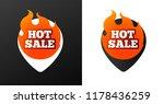 hot sale burning pins. black... | Shutterstock .eps vector #1178436259
