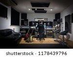 recording studio control room   ... | Shutterstock . vector #1178439796
