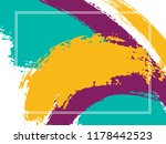 horizontal border with paint... | Shutterstock .eps vector #1178442523