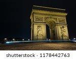street view of arc de triomphe  ... | Shutterstock . vector #1178442763