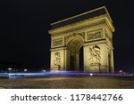 street view of arc de triomphe  ... | Shutterstock . vector #1178442766