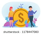 business people stand near big... | Shutterstock .eps vector #1178447083