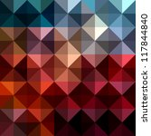 triangles abstract background... | Shutterstock . vector #117844840