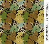 camouflage seamless pattern....   Shutterstock .eps vector #1178449033