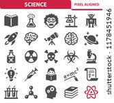 science icons. professional ... | Shutterstock .eps vector #1178451946