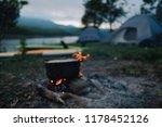 blurred background of camp and... | Shutterstock . vector #1178452126