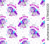 seamless pattern with cute...   Shutterstock .eps vector #1178460220