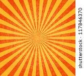 grunge sunburst vector image | Shutterstock .eps vector #117846370