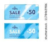 winter sale. colorful brochure... | Shutterstock . vector #1178465986