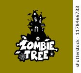 zombie party typography design... | Shutterstock .eps vector #1178466733