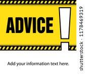message warning  ticket  web... | Shutterstock .eps vector #1178469319